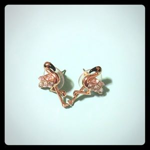 Cute Kate Spade flamingo earrings